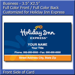Holiday inn express business card design 3 reheart Gallery