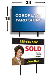 Full Color Yard Signs<br> 18x24